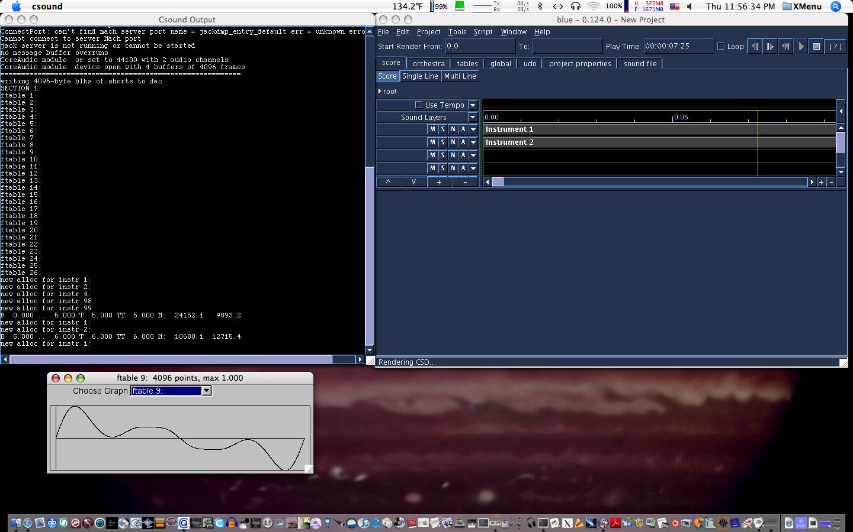 Csound screenshot