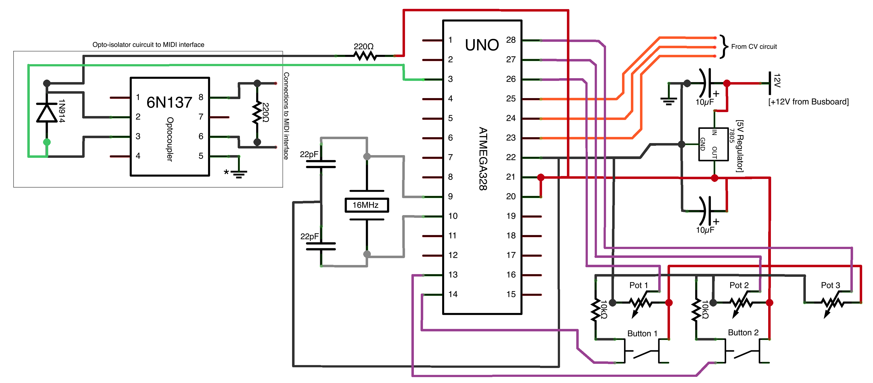 Control Voltage to Arduino
